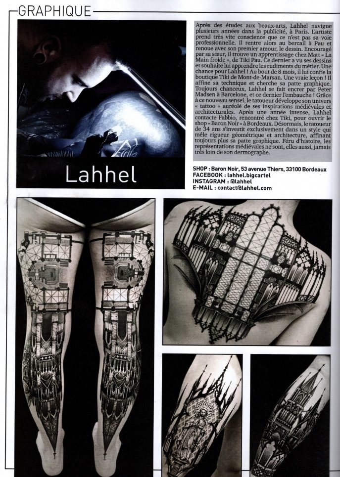 interview lahhel pour tattoo magazine
