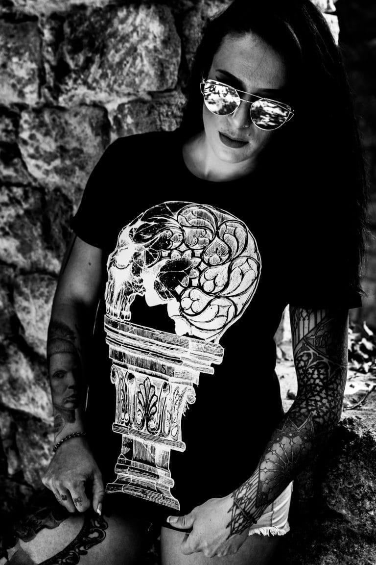 t-shirt femme crâne 2